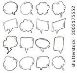 black hand drawn doodle speech...   Shutterstock .eps vector #2002175552