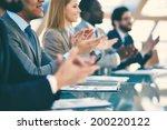 hands of business partners... | Shutterstock . vector #200220122