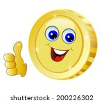 brilliant gold coin on a white... | Shutterstock .eps vector #200226302