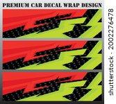 sport car decal wrap design... | Shutterstock .eps vector #2002276478