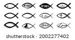 jesus fish icons isolated on...   Shutterstock .eps vector #2002277402