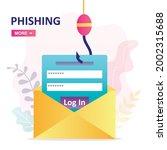 cyber crime of password theft....   Shutterstock .eps vector #2002315688