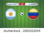 argentina vs colombia... | Shutterstock .eps vector #2002322045