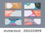 vector banner template on... | Shutterstock .eps vector #2002333898