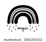 black monochrome rainbow with...   Shutterstock .eps vector #2002352522
