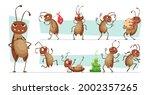 dirt cockroach. bad pests...   Shutterstock .eps vector #2002357265