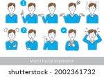 illustration set of upper body...   Shutterstock .eps vector #2002361732