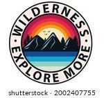 wilderness t shirt vector... | Shutterstock .eps vector #2002407755