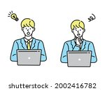 resolution  confused woman... | Shutterstock .eps vector #2002416782