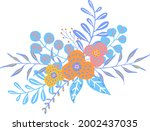colorful floral flowers... | Shutterstock .eps vector #2002437035