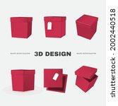 3d box collection in different... | Shutterstock .eps vector #2002440518