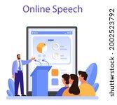 professional speaker online...   Shutterstock .eps vector #2002523792