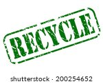 Recycle Stamp With Green Text...