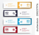 design clean number banners... | Shutterstock .eps vector #200257976