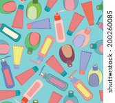 cosmetic bottles pattern  | Shutterstock . vector #200260085