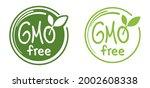 gmo free calligraphic green... | Shutterstock .eps vector #2002608338