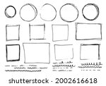doodle lines and curves vector. ...   Shutterstock .eps vector #2002616618