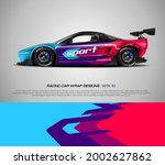 racing car wrap design vector... | Shutterstock .eps vector #2002627862