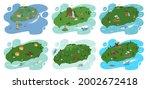 jeju island in south korea ... | Shutterstock .eps vector #2002672418