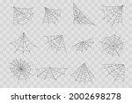 halloween cobweb  frames and... | Shutterstock .eps vector #2002698278