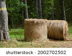 Country Landscape With Straw...