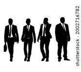 set silhouette businessman man... | Shutterstock . vector #2002716782