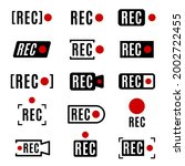 realistic recording sign vector ... | Shutterstock .eps vector #2002722455