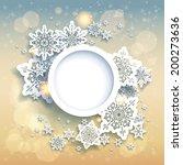 spectacular christmas... | Shutterstock .eps vector #200273636