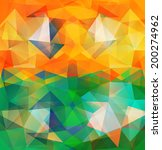 triangle background. pattern of ... | Shutterstock .eps vector #200274962