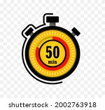 icon of timer with 50 minutes...