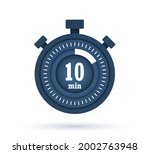 icon of timer with 10 minutes...