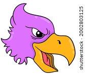 the head of a fierce purple...   Shutterstock .eps vector #2002803125