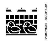 chick in poultry farm glyph...   Shutterstock .eps vector #2002846685