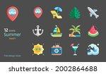 summer beach flat design icon...   Shutterstock .eps vector #2002864688