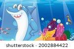 Underwater Scene With Shark...