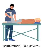 physiotherapy rehabilitation...   Shutterstock .eps vector #2002897898