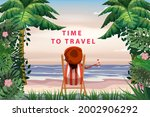 time to travel woman lying on... | Shutterstock .eps vector #2002906292