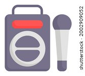 boombox icon with flat style....