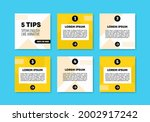 bundle of 6 square banners with ...   Shutterstock .eps vector #2002917242