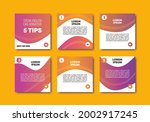 set of editable minimal square...   Shutterstock .eps vector #2002917245