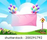 illustration of landscape with... | Shutterstock .eps vector #200291792