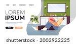 man suffering from knee pain... | Shutterstock .eps vector #2002922225