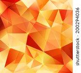 orange shining crystal abstract ... | Shutterstock . vector #200294036