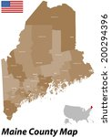 A large and detailed map of the State of Maine with all counties and main cities.