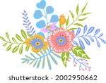 colorful floral flowers... | Shutterstock .eps vector #2002950662