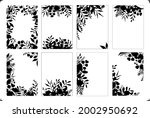 set of floral twigs branches... | Shutterstock .eps vector #2002950692