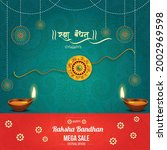decorated rakhi for indian...   Shutterstock .eps vector #2002969598