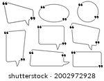 quote box frame. quote box icon.... | Shutterstock .eps vector #2002972928