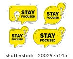 stay focused motivation quote....   Shutterstock .eps vector #2002975145