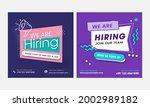 we're hiring job vacant...   Shutterstock .eps vector #2002989182